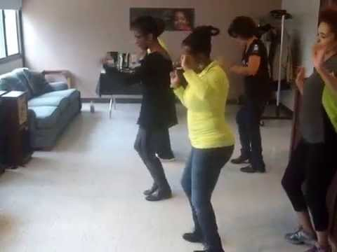 CHICAGO/HYDE PARK LINE DANCING CHALLENGE GROUP DOING THE WOBBLE Jan. 3, 2015