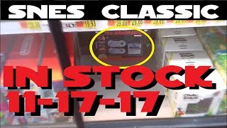 Super Nintendo Classic Edition in stock at Walmart 11-17-17