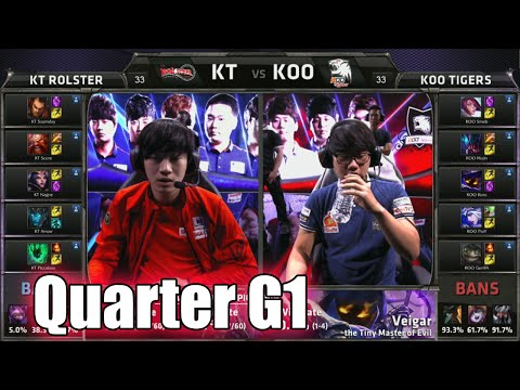 KT Rolster vs KOO Tigers | Game 1 Quarter Finals LoL S5 World Championship 2015 | KT vs KOO G1