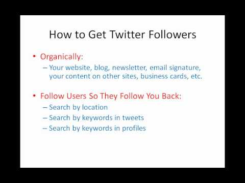 Twitter Marketing   How To Use Twitter To Promote Your Business   Part 1