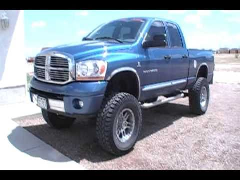2006 Dodge Ram 3500 cummins turbo diesel 5.9 4x4 6' lift 5' magnaflow Video
