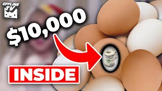 $10,000 EASTER EGG HUNT CHALLENGE - SMASHING EGGS ON OURSELVES FT. Pokimane,  LilyPichu & more