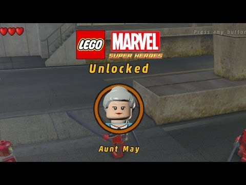 Lego Marvel-Unlock Aunt May-3rd Deadpool Mission
