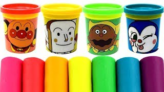 Anpanman(アンパンマン) Play-Doh Molds & Can HeadsBaikinman Shokupanman Currypanman Dokinchan Kokinchan