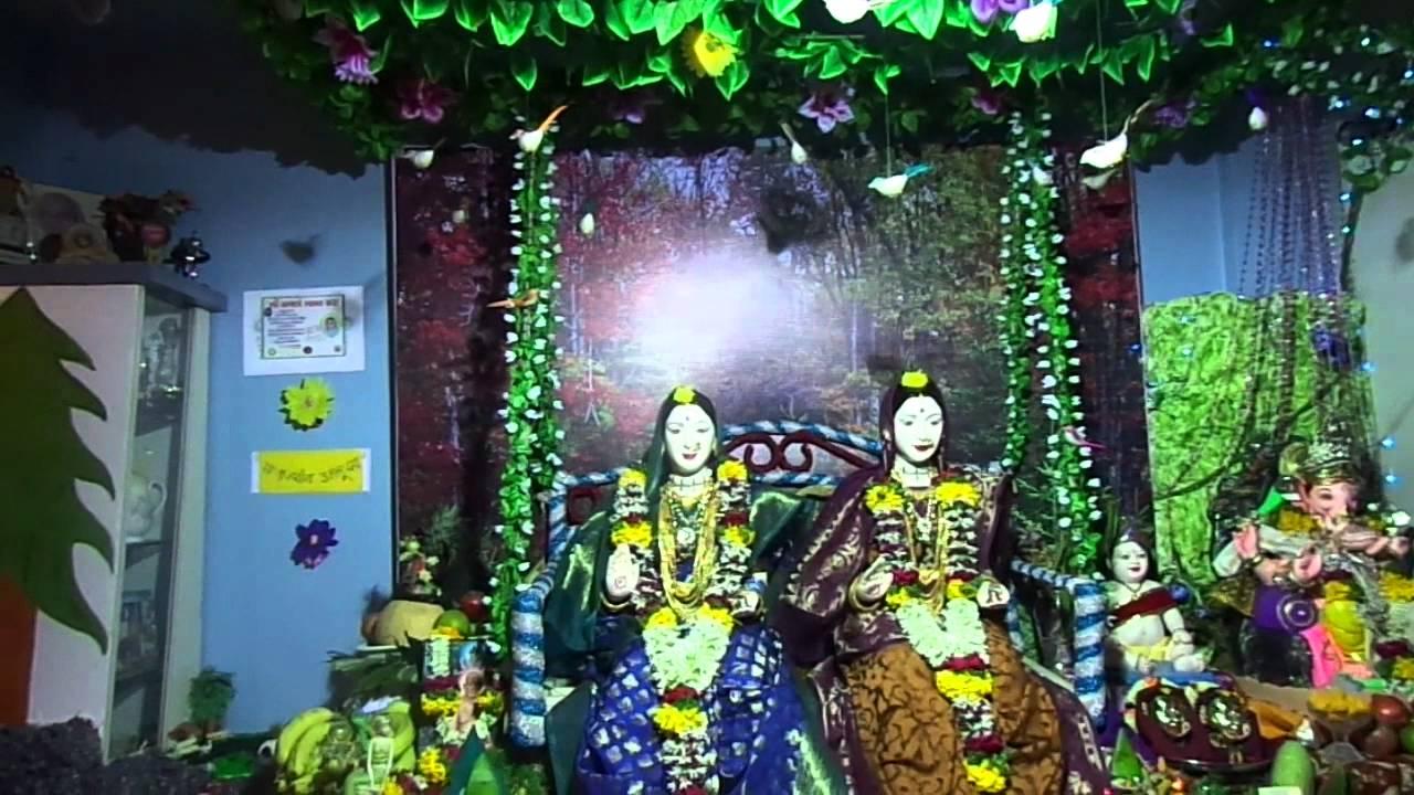 Save Girl Child Gauri Ganpati Decoration 2012 Youtube