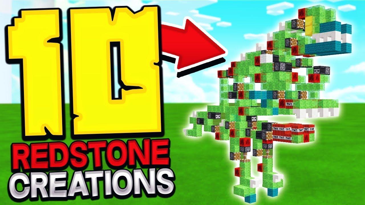 TOP 10 CRAZIEST MINECRAFT REDSTONE CREATIONS!