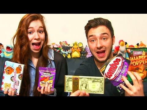 Dégustation My American Market en Couple ! #5 BONBON CANDY CRUSH & CHOCOLAT 1 MILLION DE DOLLARD !