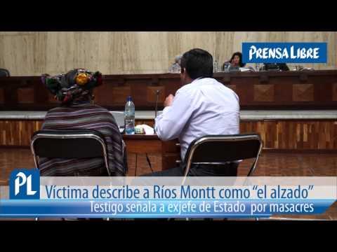 Testigo señala a exjefe de Estado  por masacres