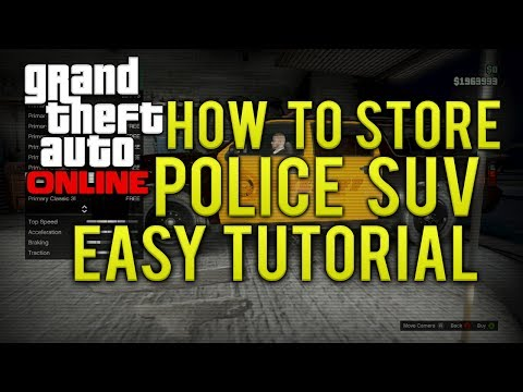 GTA ONLINE HOW TO STORE/KEEP A POLICE SUV AS A PERSONAL CAR (GTA 5 MULTIPLAYER)