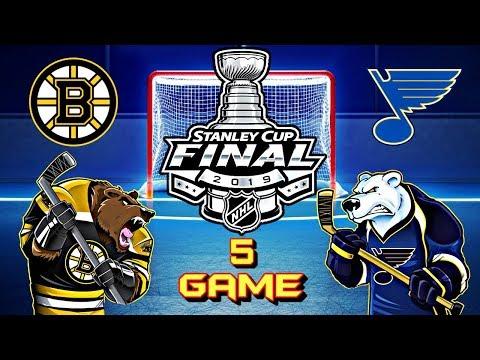 Сент-Луис Блюз - Бостон Брюинз. Финал. Игра 5 | St  Louis Blues Vs Boston Bruins. Final. Game 5