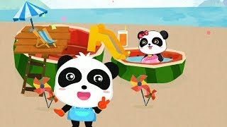 Fun Games For Babies - Baby Learn Making Watermelon Swimming Pool with Little Panda