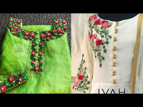 Neck Embroidery || Neck Embroidery For Salwar Suit || Super Stylish Neck Embroidery