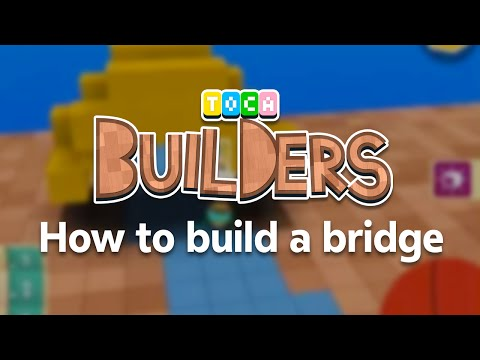 Toca Builders App Walkthrough : How to build a bridge in Toca Builders