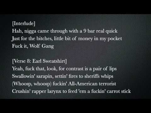 ODD FUTURE - OLDIE LYRICS