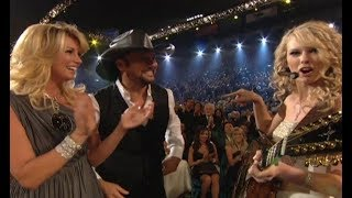 "taylor swift sings ""Tim McGraw"" in front of Tim McGraw (the 12 year anniversary of first single )"
