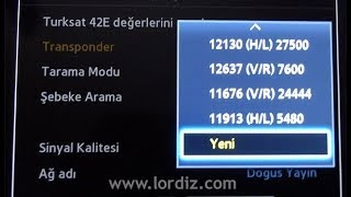 Samsung Smart TV Uydu Ayarlama