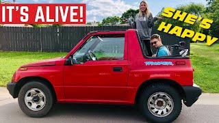 It's ALIVE! The $400 Geo Tracker Engine Rebuild Is COMPLETE *First Drive*