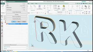 NX Manufacturing a TEXT by planner profile | CAM Tutorial