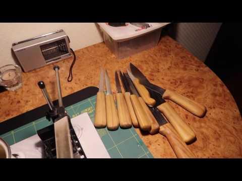 Заточка кухонников на точилке EDGE PRO