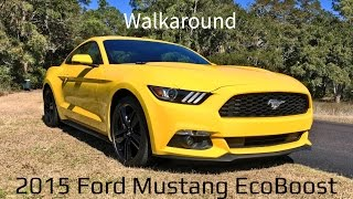 Walkaround - 2015 Ford Mustang EcoBoost in Triple Yellow