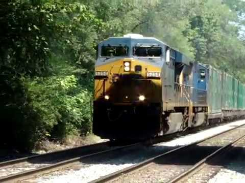 "CSX 5254 & 4748 pull Emerald Express south through Riverdale Maryland.--- --"" Incorporated in 1920 and with just over 5000 residents today, Riverdale Park i..."