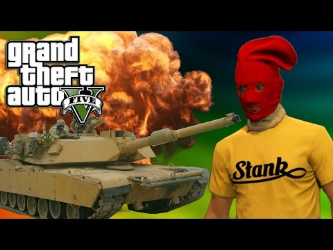 COPS BE ANGRY THE TANK DREAM GTA V EPIC MOMENTS :D