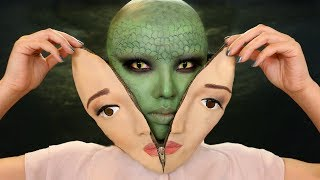 Unzipped Human Halloween Makeup Tutorial !!!