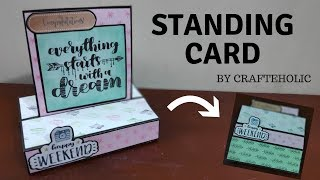 diy birthday cards | handmade birthday card | standing card | paper photo frame tutorial