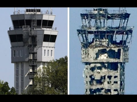 RAW footage: Ukraine Donetsk intl airport before and after