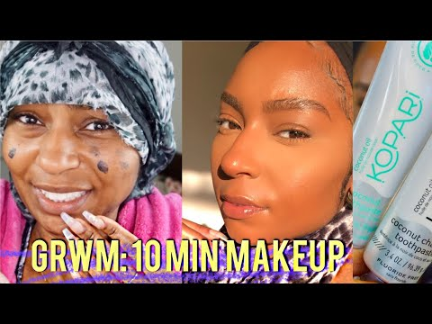 GRWM: 10 Min Makeup Cover Acne & Hyperpigmentation + Kopari Review