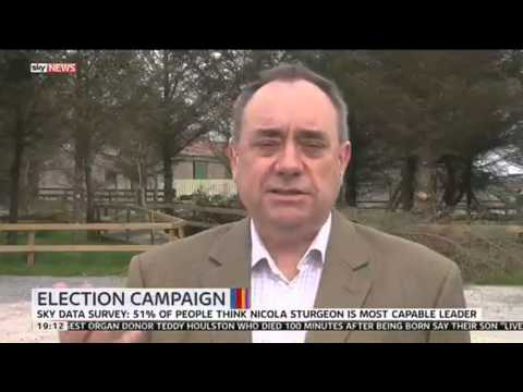 Scotland's former First Minister Alex Salmond discusses the general election