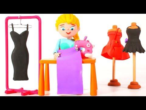 PRINCESS MAKES A NEW DRESS ❤ Superhero Babies Play Doh Cartoons For Kids