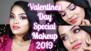 Valentines Day Makeup Tutorial 2019 | Testing out new makeup! Keerthy