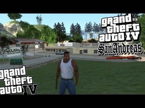 GTA IV - Grand Theft Auto San Andreas Mod - Full Map & Cars
