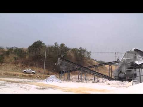 Liming Heavy Industry Mobile Crushing Line Production Site