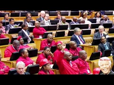 Julius Malema Making An Asshole Of Himself In Parliament