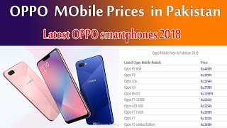 Oppo mobile prices in Pakistan 2018 | Latest Oppo smartphones in Pakistan price and Specs