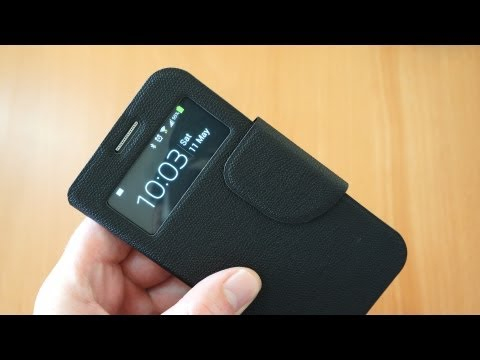 Sonivo S-View Samsung Galaxy S4 Flip Case Review - Sneak Peak