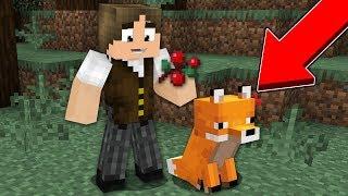 Minecraft Origens #13: EU CONSEGUI UMA RAPOSA, O NOVO MOB DO MINECRAFT!