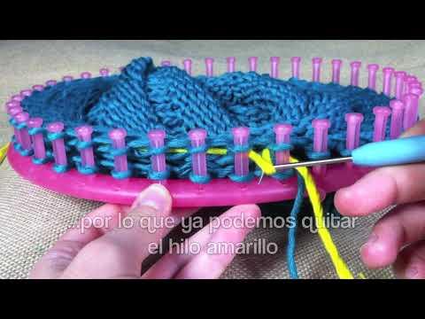Cómo hacer un gorro caído con visera y telar circular  (Tutorial DIY)