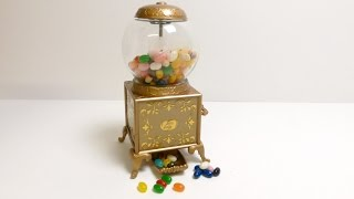 Golden Gumball Machine - Jelly Belly Gum Candy Machine in Antique Style  ガムボールマシーン