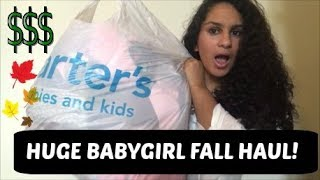 HUGE BABYGIRL FALL CLOTHING HAUL 2017 | For toddler and baby!