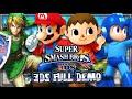 Super Smash Bros Wii U & 3DS - FULL Nintendo 3DS Demo (1080p)