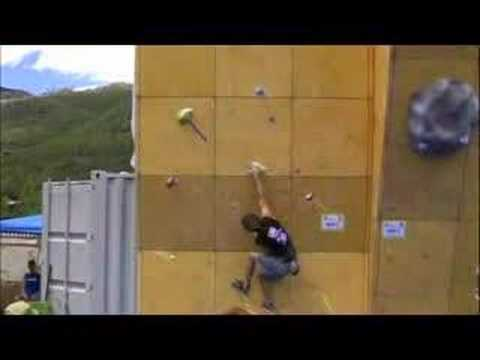 Chris Sharma on Men's 1 Semifinal-Teva games 2008
