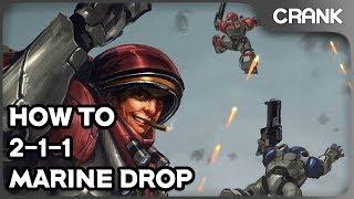 How to 2-1-1 Marine Drop - Crank's StarCraft 2 Variety!