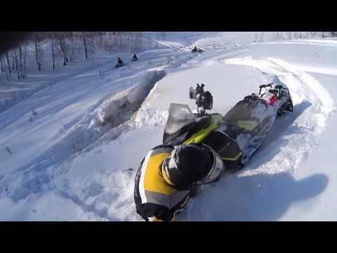 Снегоход в предгорье Южного Урала