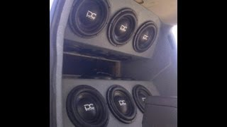 Crazy Windshield Flex 10,000 Watt Bass Burp - 12 DC Audio 12 Woofers
