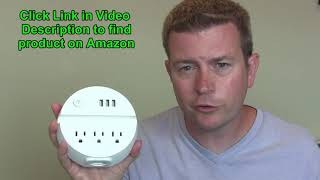 Round Power Strip Charging Station USB Ports AC Outlets Home Travel by NTONPOWER Review Demo