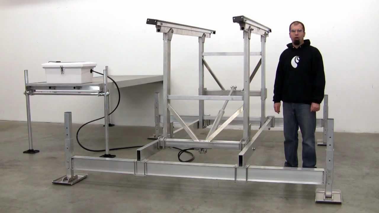Hydraulic    Boat    Lift by CraftLander  YouTube