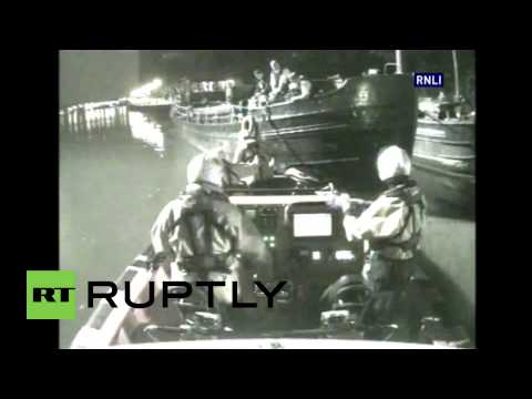 "UK: Watch critically ""freezing"" man rescued by Thames life-boat crew"